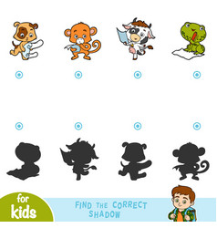 find correct shadow education game set of vector image