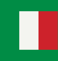 flag of italy flag with official colors vector image