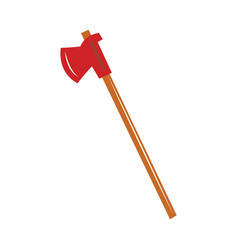 flat firefighter axe icon vector image