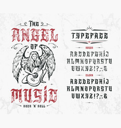font angel music vector image