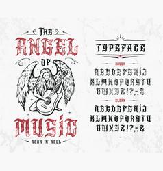 Font angel music vector