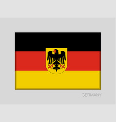 Germany flag with coat of arms national ensign vector