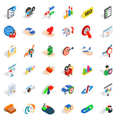 Good career icons set isometric style vector