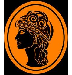 greek woman vector image