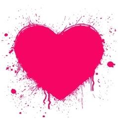 grunge heart on white background vector image