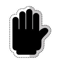hand human stop silhouette isolated icon vector image