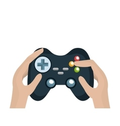 Hands with video game control vector