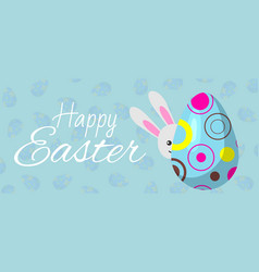 happy easter banner cartoon vector image