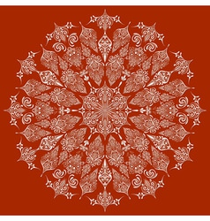 Highly Detailed Lacy Snowflake vector image