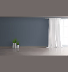 Empty Living Room Blue Interior Background Vector Images Over 120