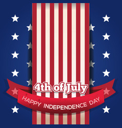 independence day card july 4 vector image