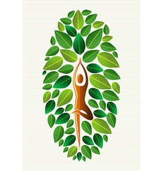 India yoga leaf concept vector
