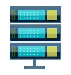 Internet data center server vector image