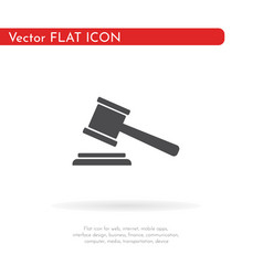 judge gavel icon for web business finance and vector image
