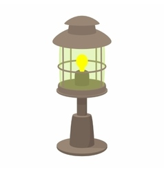 Lamp cartoon icon vector image