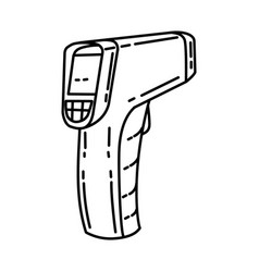 Laser thermometer icon doodle hand drawn vector