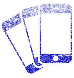 Mobile phones textured icon vector