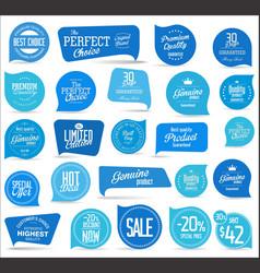 modern blue sale badges collection vector image