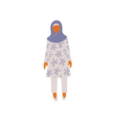 Muslim woman wearing headscarf hijab vector