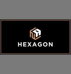Na hexagon logo design inspiration vector