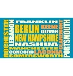 New Hampshire state cities list vector