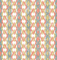 Pattern with color rhombus vector image