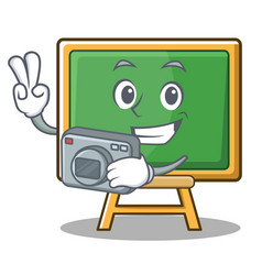 Photography chalk board character cartoon vector