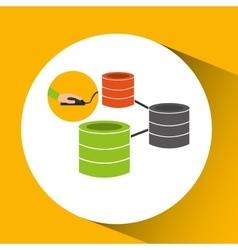 Programer software data base design vector