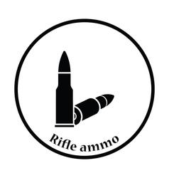 Rifle ammo icon vector image