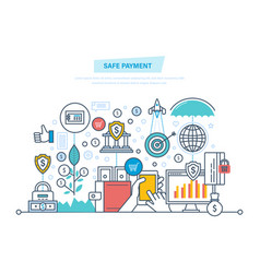 Safe payment protection of data operations vector