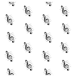 Seamless pattern of treble clef vector