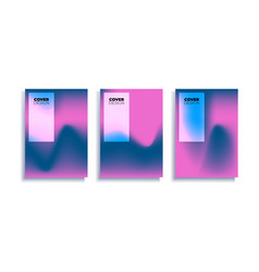set covers design templates with vibrant vector image