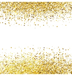 Shiny golden glitter on white background vector
