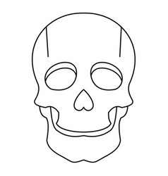 singer mask icon outline style vector image vector image