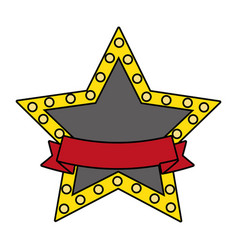 stars lights sign symbol vector image