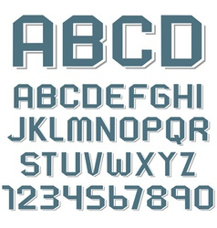 stickers alphabet letters and numbers vector image