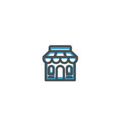 store icon line design e commerce icon vector image