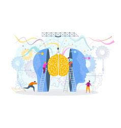 success knowledge concept tiny people insert a vector image