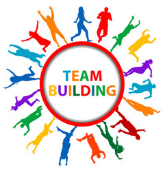 team building concept with men and women vector image