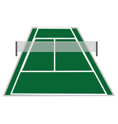 Tennis court design vector