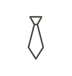 tie icon outline necktie line suit access vector image