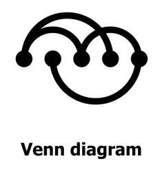 Venn diagramm icon simple style vector