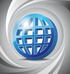 3D icon global vector image vector image