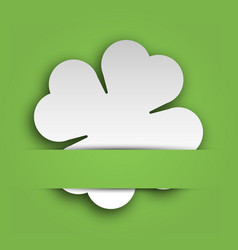cut out four leaf clover attached in the green vector image
