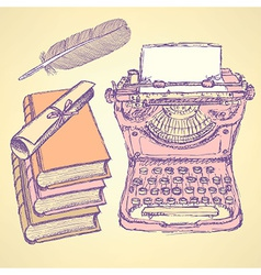 Cute writter set vector image