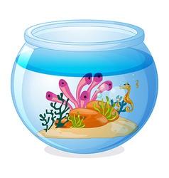 Fish tank vector image vector image
