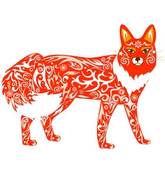 fox red vector image
