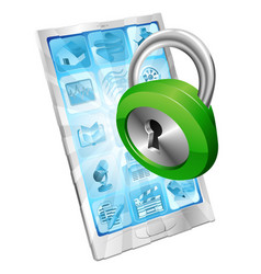 lock icon phone security concept vector image vector image