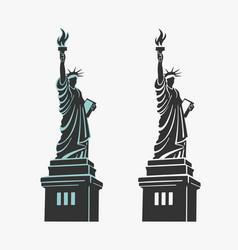 new york statue of liberty symbol vector image