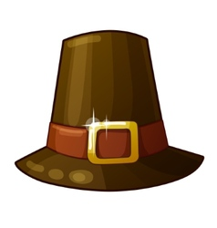 Pilgrim Hat isolated on white background vector image vector image